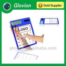 Customized logo mini calculator gift,transparent solar calculator,clear solar calculator