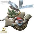 Fc13333 de cerámica paloma de la navidad