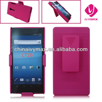 exclusive design case for Sony xperia ion LT28i clip holster combo protector