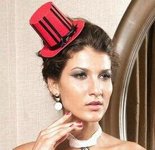 MYLOVE red fascinator handmade top hat women party MLGM050