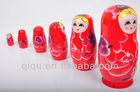 Wooden Baby Design Matryoshka Doll Toy