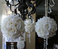 champagne silk fabric flower ball centerpiece
