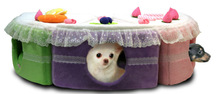 PupCake- Dog Bed -Strawberry - Soft Warm House Crate with Plush Mat Pad CUTE