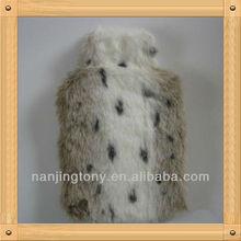 Animal Luxury Faux Fur Cover Jaguar plush hot water bottle cover