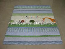 Cute animal 100% cotton kids quilt/comforter sets 3 pcs