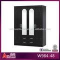 W984-48 clássico embalado apartamento portas de espelho para o armário