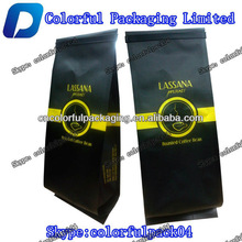 High Quality LASSANA Coffe bag with tin tie/4 edged-sealing coffe bag with valve/for roasted coffe bean