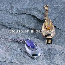 Puzzle glitter gift diamond necklace illuminated USB flash drive/pen drive/pendrive real capacity 64GB