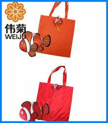 190T polyester reusable foldable shopping bag