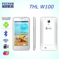 Telefono Movil THL W100 with MT6589 Quad Core 1.5GHZ CPU, 4.5 inch Screen, 8MP+5MP Camera, 4G ROM+1G RAM Telefono Movil THL W100