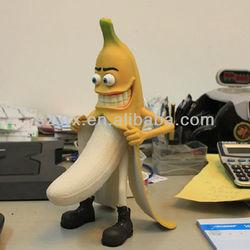 Custom plastic action figure;Minions action movie;pvc banana toy figure