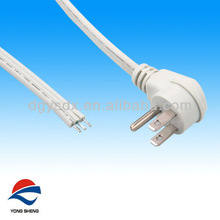 right angle ul power cord with SPT-3 3core flat cable