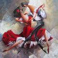 hot projeto abstrato dança pessoas pintura a óleo