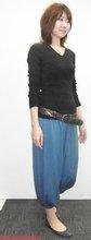 Women harem pants Turquoise coat pant qiqi fashion