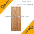 Black Walnut Veneer HDF Flat Door Skin With Competitive Prices