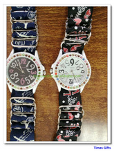 Free Ship By China Post 9 Colors Women Flower Cloth Wrist Watch/Fashionable Watch/Fabric Diamond Watches For Ladies