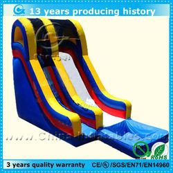 fashion inflatable pool water slide, big inflatable water slide pool