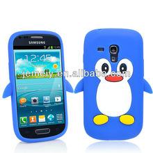 animal penguin silicone case for s3 mini i8190 cover