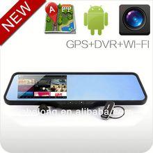 Android 4.0 de navegação GPS bluetooth espelho retrovisor do carro hd câmera de esportes radicais