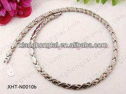 fashion two tone women stainless steel/ titanium neodymium magnet strong power 4500 Gauss necklace jewelry