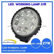 HOT 27W 12V 24V Vehicle Light Epistar Cree LED Work Light, ATV Parts