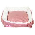 หรูหราและสวยงามสีชมพูเจ้าหญิงเตียงสุนัขสัตว์เลี้ยงเตียงโซฟา