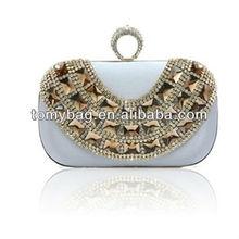 Fancy crystal box clutch evening bag