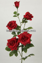 wholesale flower decoration red silk roses