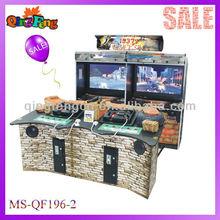 MS-QF196-2 Arcade coin pusher the gun basketball shooting machine