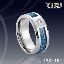 paypal accept tungsten carbide burmese ruby ring100% Blue Carbon Fiber Ring