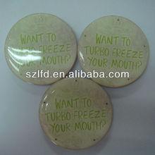 Round Plastic Reflective Flash LED Badge with Safe Pin on Back
