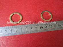 Solid Zinc Alloy O Ring,Handbag Decorative Metal O Ring,Flat Gold Color Round Ring