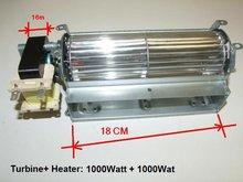 crossflow blower with heater