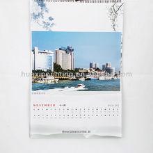 table calendar/desktop calendar/spiral calendar