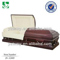 Purple buff interior curve corner casket