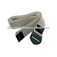 6' Cinch Buckle Cotton Yoga Belt / exercise Belts / 8' Cinch Buckle Cotton Yoga Belt