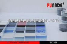 White/Black Liquid RTV curing organic silicone pouring adhesive sealant