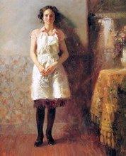 Pino Daeni's oil painting