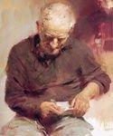 Impressionist people oil painting