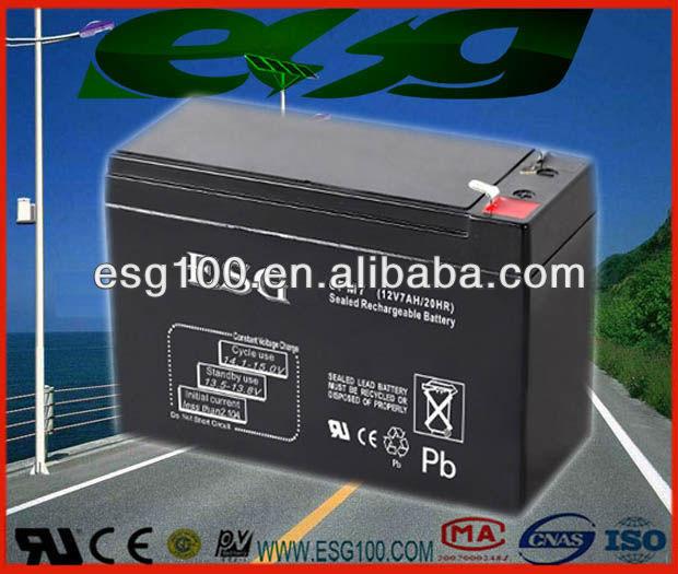 Valve 12v7AH dry batteries for ups CE&UL SLA AGM
