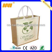 China bag factory sell jute hessian cloth bags burlap(NV-J060)