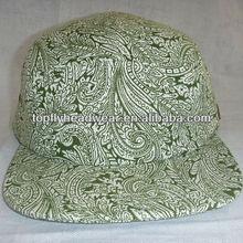 Printing canvas blank 5 panel camper cap and hats snapback caps custom headwear