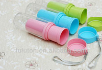 350ml clear thermo cup plastic ,plastic travel thermos tumbler for promotion