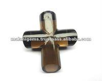 Natural Smoky Quartz Fancy Shape Holy Cross Sign Loose Stone