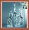Decorative modern home ornament animal figurines resin white giraffe statue