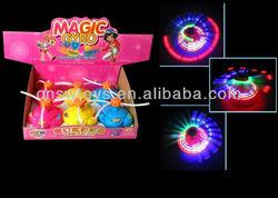 Super Laser Top cartoon Flashing led light Laser Top LED Light Spin-Baby blade Music Wind Up Spinning Flash top toys