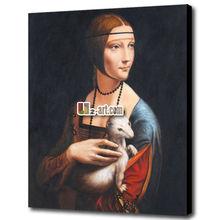 Canvas prints art painting lady in ermine leonardo da vinci for sale