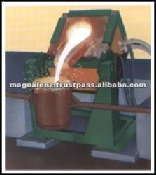 Metal melting crucible