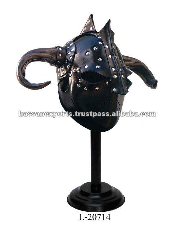 Medieval Helmet Horns Medieval Leather Armor Helmet