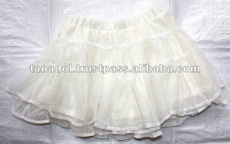 partido ropa para niños lindo tejido elástico falda para las niñas 2012